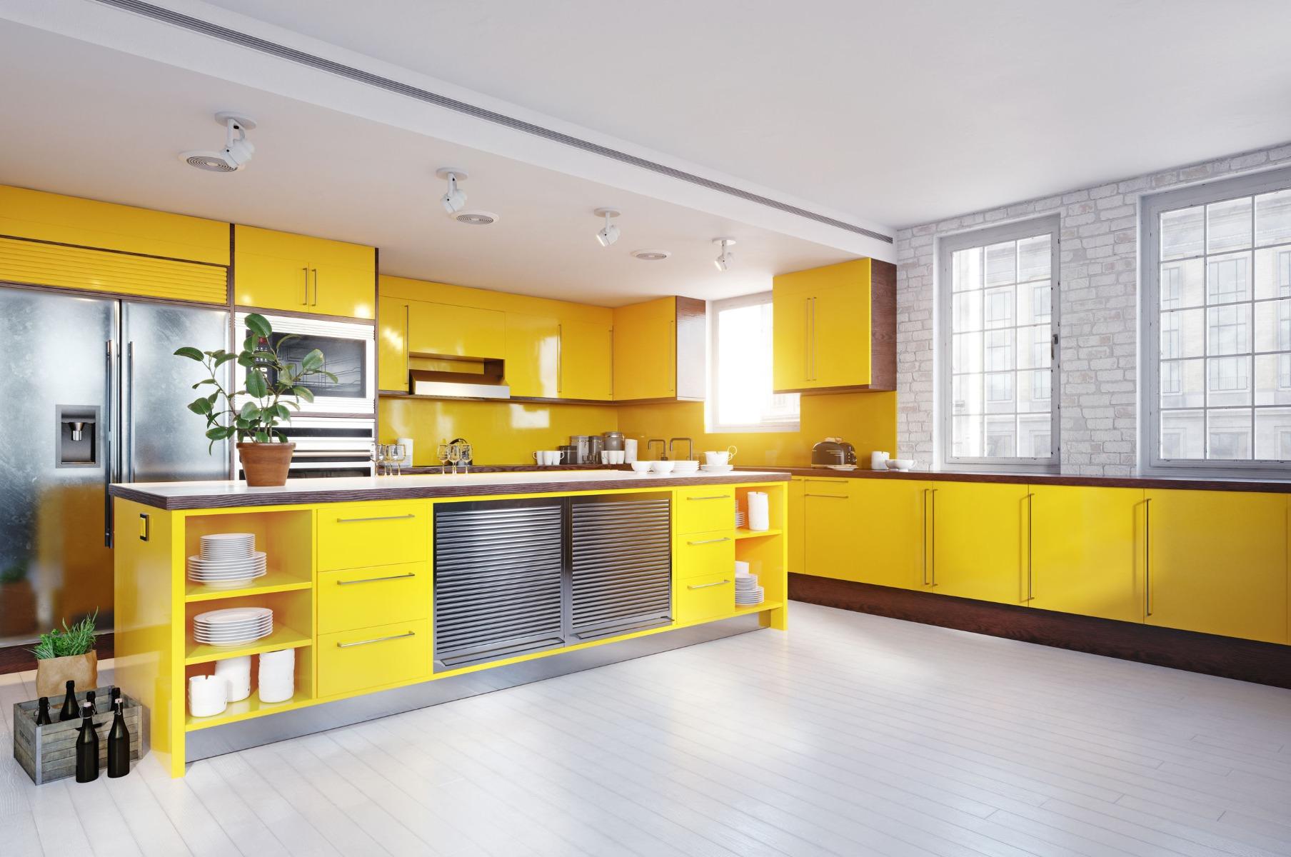 custom color cabinets