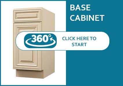 Belfast Cream Glaze Base Cabinet with a Door and a Drawer