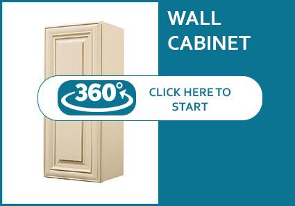 Belfast Cream Glaze Single Door Wall Cabinet
