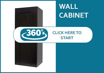 Anchester Espresso Single Door Wall Cabinet