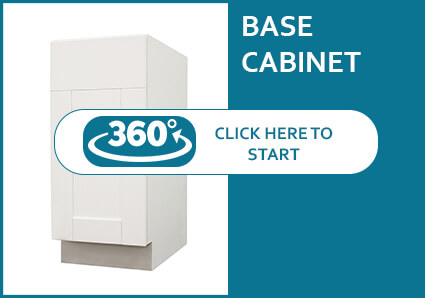 Anchester White Base Cabinet with a Door and a Drawer