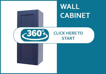 Madison Blue Shaker Single Door Wall Cabinet