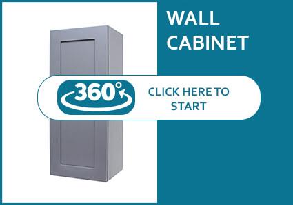 Madison Grey Shaker Single Door Wall Cabinet