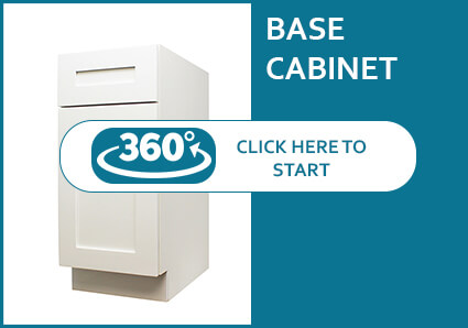 Madison Pearl Shaker Base Cabinet with a Door and a Drawer
