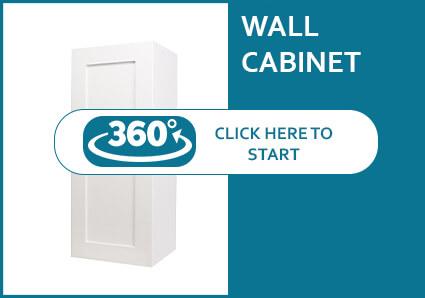 Madison Pearl Shaker Single Door Wall Cabinet