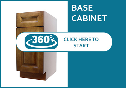 Nutmeg Modern Base Cabinet with 1 Door and 1 Drawer