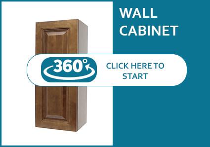 Nutmeg Modern Single Door Wall Cabinet