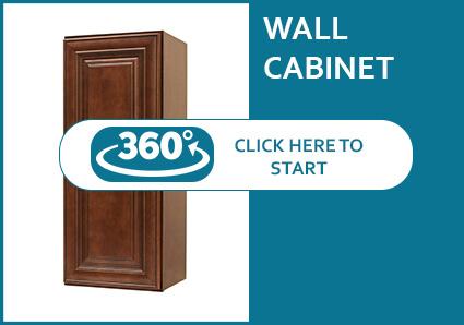 Charleston Cappuccino Wall Cabinet