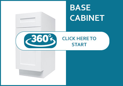 Madison White Shaker Base Cabinet with a Door and a Drawer