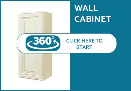 Charleston Cream Wall Cabinet