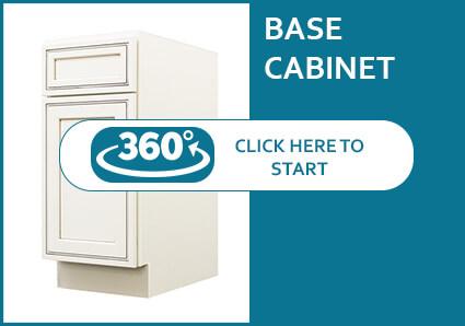 Dark Cream Glaze Base Cabinet