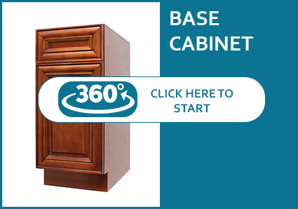 Coffee Cherry Base Cabinet with a Door and a Drawer