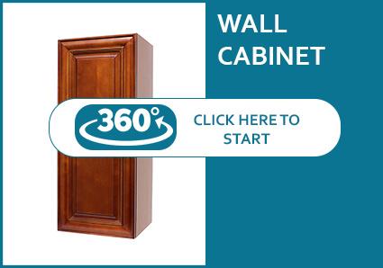 Coffee Cherry Single Door Wall Cabinet