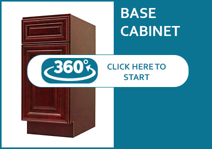 Milan Sangria Base Cabinet with 1 Door and 1 Drawer