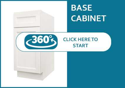 Hanover Dove Base Cabinet with 1 Door and 1 Drawer