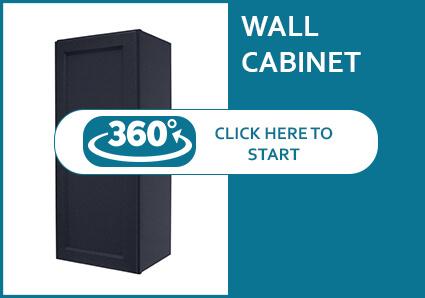 Hanover Charcoal Single Door Wall Cabinet
