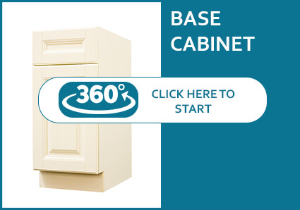 Oxford Cream Base Cabinet with a Door and a Drawer