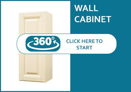 Oxford Cream Single Door Wall Cabinet