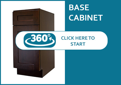 Sienna Shaker Base Cabinet 360 View