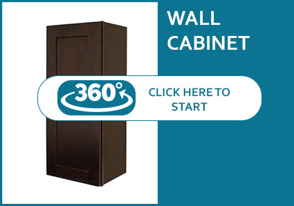 Sienna Shaker Wall Cabinet 360 View