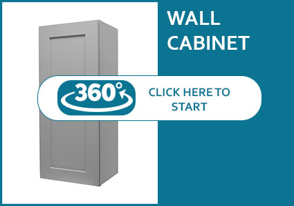 Classic Grey Shaker Wall Cabinet