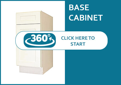 Salem Cream Shaker Base Cabinet with 1 Door and 1 Drawer