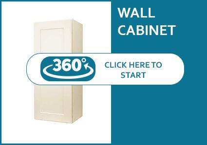 Salem Cream Shaker Single Door Wall Cabinet