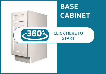 Salem Dove Shaker Base Cabinet with 1 Door and 1 Drawer