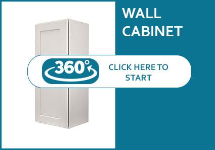 Salem Dove Shaker Single Door Wall Cabinet