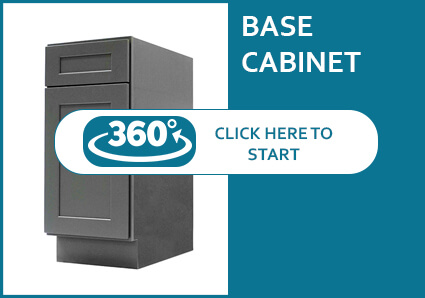Salem Grey Shaker Base Cabinet with 1 Door and 1 Drawer