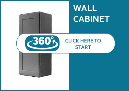 Salem Grey Shaker Single Door Wall Cabinet