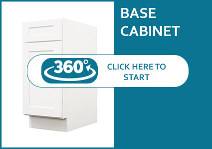Salem White Shaker Base Cabinet with a Door and a Drawer
