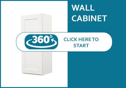 Salem White Shaker Single Door Wall Cabinet
