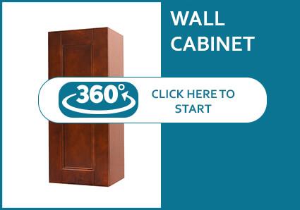 Walnut Shaker Single Door Wall Cabinet